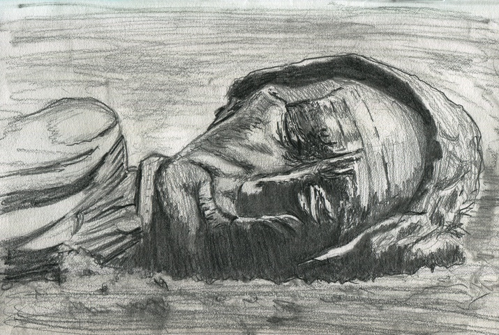 Drawing 020 - The Tollund Man - THE B-ROLL
