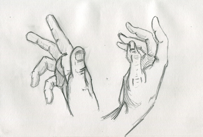 Drawing 035 U2013 Two Hands U2013 THE B-ROLL
