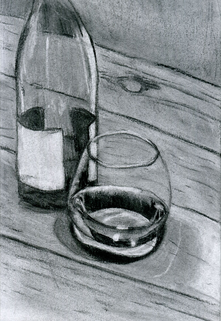 Drawing Still Life With Wine